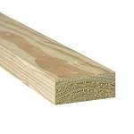 2 in. x 4 in. x 12 ft. #2 Prime Ground Contact Pressure-Treated Lumber